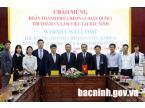 Đoàn công tác thành phố Cheonan (Hàn Quốc) thăm, làm việc tại Bắc Ninh