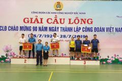 Giải cầu lông công nhân viên chức, lao động trong các khu công nghiệp Bắc Ninh lần thứ V năm 2019