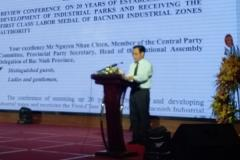 The closing speech of the meeting of the head of the Management Board of Bac Ninh Industrial Zones