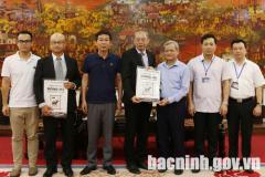 Chủ tịch UBND tỉnh tiếp và làm việc với Công ty ECOVE (Đài Loan)