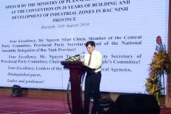 Speech by representative of Ministry of Planing and Investment