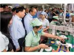 The Prime Minister visited and encouraged the workers