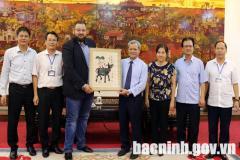 Chủ tịch UBND tỉnh Nguyễn Tử Quỳnh tiếp Chủ tịch Hiệp hội thành phố thông minh thế giới