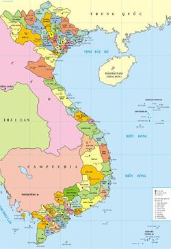 Bản đồ Nước Cộng Hòa Xã Hội Chủ Nghĩa Việt Nam
